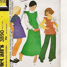 McCall's 3890, A Back Tie-End, A-Line Top/Mini-Jumper/Maxi-Jumper and Wide Cuffed Pants Sewing Pattern by So Sew Some!