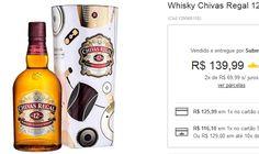 Whisky Chivas Regal 12 Anos com Lata - 1000ml << R$ 12599 >>