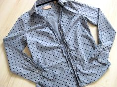 Bluse wird Kinderkleid – Teil 1 - Damenbluse  Polka Dots