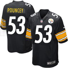 Nike Game Youth Pittsburgh Steelers #53 Maurkice Pouncey Team Color Black NFL Jersey $59.99