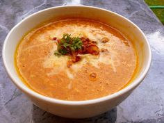 SPLENDID LOW-CARBING BY JENNIFER ELOFF: ROASTED SQUASH AND BACON SOUP
