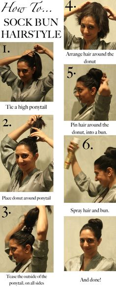 Sock Bun How-To // http://www.hithaonthego.com/how-to-sock-bun/