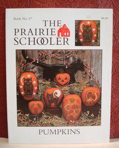 The Prairie Schooler 57 Pumpkins Halloween Fall Thanksgiving Cross Stitch 1996…