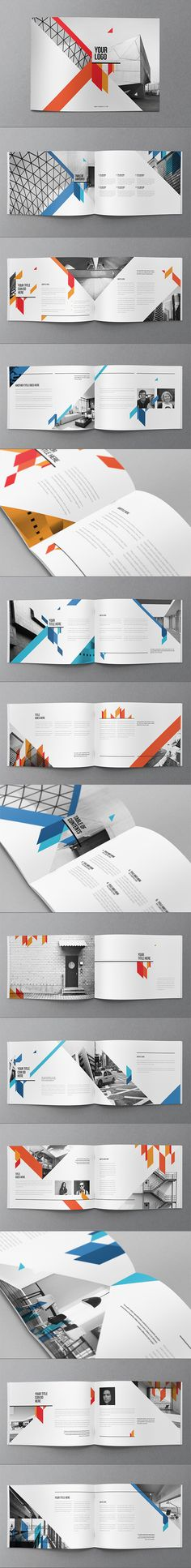 Clean Modern Red Blue Brochure on Behance