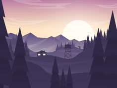 Dribbble - Hillsmountains3 by PrimeModule Studio
