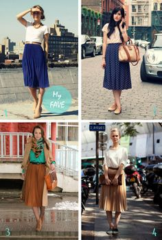 midi skirts on pinterest | Pinterest 2. Flashes of Style 3. Chicisimo 4. Stockholm Streetstyle