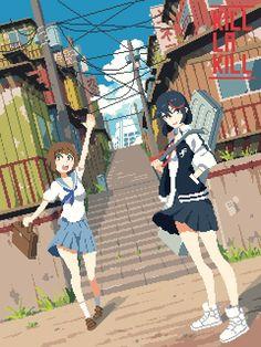 Anime Pixel Art, Pixel Art Games, Kill La Kill, Weird Art, Game Art, Character Art, Cross Stitch, Terraria, Characters
