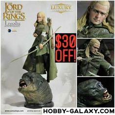 #LOTR #LordOfTheRings #Legolas 1/6 Scale #ActionFigure $30 OFF!  Pre-Order at Hobby-Galaxy.com!  #thelordoftherings #orlandobloom #tolkien #jrrtolkien #fantasy #elf #actionfigures #actionmovie #onesix #onesixthfigure #onesixscale #onesixthrepublic #hobbygalaxy