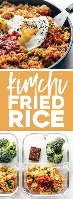 Cauliflower rice, frozen peas and carrots, fresh garlic and ginger, soy sauce Side Recipes, Veggie Recipes, Easy Dinner Recipes, Great Recipes, Vegetarian Recipes, Favorite Recipes, Healthy Recipes, Easy Recipes, Entree Recipes