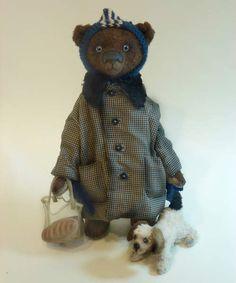 Artist teddy bear Assistant. By Alina Kareva. - Bear Pile