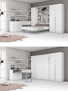 Galeria Łóżko chowane w szafie - Łóżka od Transforms