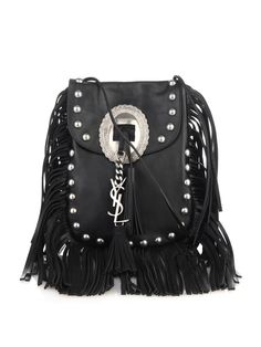 Saint Laurent Anita frindged leather cross-body bag