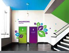 + RE:BRANDING TORONTO HIGHSCHOOLS by Yana Stepchenko, via Behance  Painted ceiling, in WYIS green series?