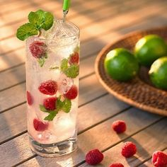 Refreshing Raspberry Mojito - Going to try this with wild mint from my yard. I see myself reclining in the hammock with a book while reading