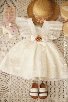 Vintage romantic sewing  christening  #vintage #christening #girl