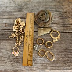 Gold Instant collection of Vintage parts and by opendoorstudio, $12.00