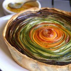 tarte aux légumes parfumés