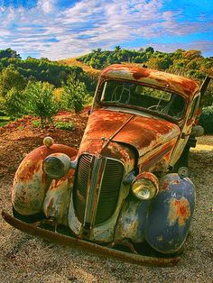 Old Warrior is a photograph by Don Schimmel. An old 1930's Dodge truck sits in it's final resting place. It was his father's old work truck and he won't ever sell! Source fineartamerica.com