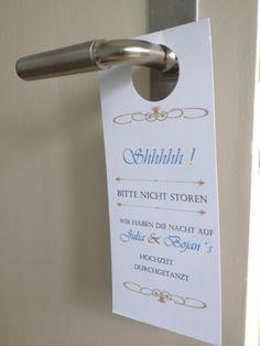 funny wedding ideas door sign lustige Hochzeitsideen Türschild fürs Hotel