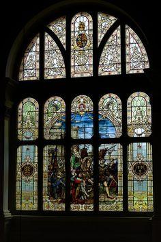 007-20140526_Dyffryn House-Vale Glamorgan-Great Hall-north window-viewed from 1st floor landing