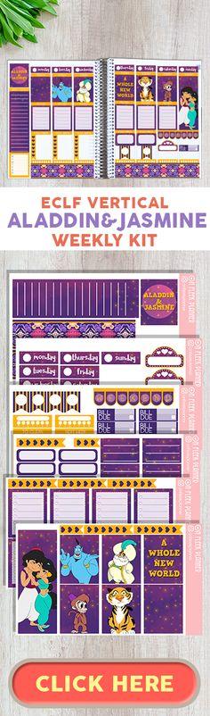 Aladdin and Jasmine Weekly Kit | Disney Planner Weekly Kit | Disney Digital Planner Weekly Kit