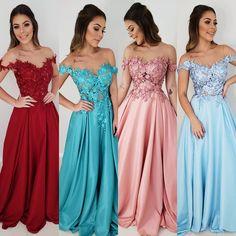 1,2,3 ou 4? Lançamento 🔥👏💗 . Eu não sei vocês,  mas eu não sei qual escolher!! 😍💗😱 Blush Pink Bridesmaids, Bridesmaid Dresses, Prom Dresses, Wedding Dresses, Prom Night, Formal Wear, Evening Dresses, Fashion Dresses, Cute Outfits