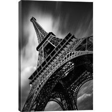 """Eiffel Tower Study II"" by Moises Levy Photographic Print on Wrapped Canvas"