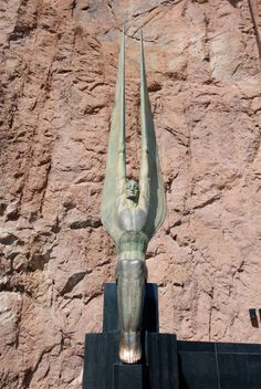 One of the two Winged Figures of the Republic, Hoover Dam, Nevada