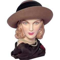Vintage 1980s Laura Ashley Breton Style Hat Brown Wool Felt Made in Great Britain available at My Vintage Clothes Line on Ruby Lane.