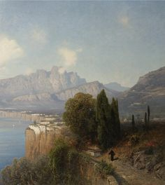 PROPERTY OF AN ITALIAN PRIVATE COLLECTOR OSWALD ACHENBACH GERMAN SORRENTO (VIEW OF SORRENTO)