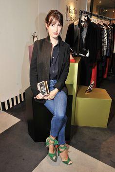 Jeanne Damas in Ossie Manolo's - love her style x