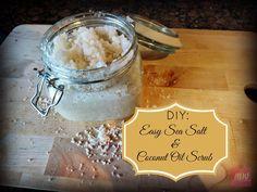 Easy Sea Salt & Coconut Oil Scrub