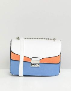 c9cf9a8582 Stradivarius Color Block XBody Bag With Chain Handle