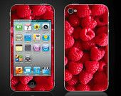 Raspberries  - iPod Touch 4 4th Gen Vinyl Decal Wrap Skin Sticker Cover - raspberry - NOT a HARD case - Free Shipping