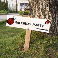 Ladybug-themed Birthday Party Venue Decorations