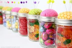 Pin Cushion Jars (fill with buttons, notions........or candy!!) | Make It and Love It