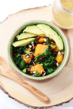 This hearty Winter Kale Salad with Almond Butter Dressing is a reminder that salads never have to be boring.
