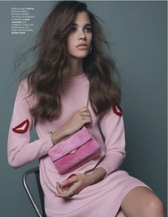 visual optimism; fashion editorials, shows, campaigns & more!: think pink: pauline hoarau by damon heath for elle france 23rd august 2013