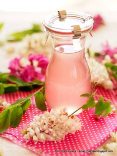 Syrop z kwiatów akacji | Smaczna Pyza Homemade Liquor, Edible Flowers, Preserves, Food To Make, Nom Nom, Lunch Box, Food And Drink, Herbs, Blog