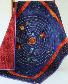 Stonehenge out of this world solar system 24 x 44 for Space themed fabric