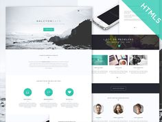 Halcyon Days is an ultra modern and stylish HTML5/CSS3 template with pixel-perfect design and smooth CSS3 animation effects.