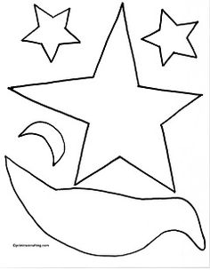 Free Primitive Graphics Crow Stars And Moon