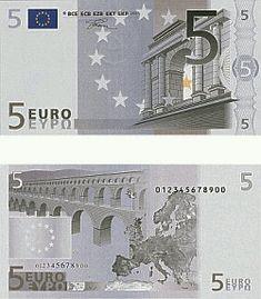 5 Euroschein - 5 Euro Scheine - Fünf Euro Schein