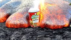 Chef Boyardee Raviolis take on lava 6-13-13 - 3 Hawaii Kilauea Volcano Puu Oo Vent Lava Flow Nikon D800