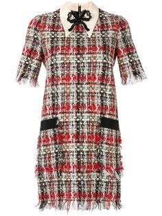 Купить Gucci твидовое платье с вышивкой .