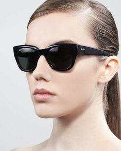 Ray-Ban Cat-Eye Sunglasses, Shiny Black on shopstyle.com