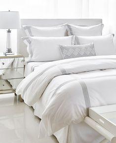 Sorbe White Pearl Grey Bedding