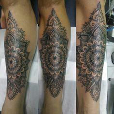 Mandala tattoo #blessinkart tattoo