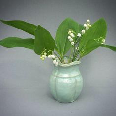 Sweet lily-of-the-valley 🌸The flower I most associate with Mothers Day 💟in Sweden it's this coming Sunday The vase is my work😊 #blommor #morsdag #liljekonvaljer #bukett #keramik #vas #flowers #bouquet #ceramics #pottery #vase #lilyofthevalley #nothingisordinary_ #stillife #letterv_nio