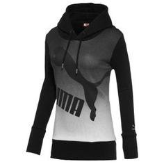 PUMA Gradient Pullover Hoodie - Women's - Black